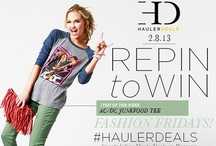 REPIN TO WIN! / REPIN TO WIN! FASHION FRIDAYS! Winners will be picked 4 weeks after pin date and announced here: www.facebook.com/HAULERdeals/notes / by HaulerDeals