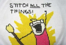 Cross Stitch - funny and geeky / by threeundertwo