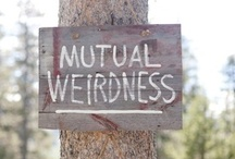 Mutual Weirdness Forever / Wedding Daydreams / by Mariah Huber