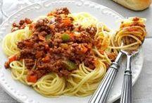 Food~I cook pasta / by Linda Fehr Meilink