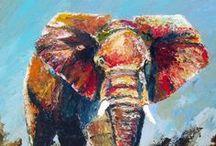Elephants  / Elephant artwork by Thomas Andrew. www.ThomasAndrewArt.com / by Tom Findlay