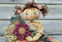 Cloth Dolls For Any Season / I just LOVE making and designing cloth dolls.  I also like shopping for cloth dolls and do not think I have ever seen a cloth doll I haven't loved.  Here's a few of my favorites.   / by Linda Walsh