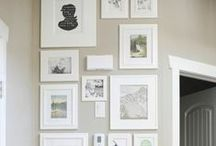 Gallery wall love / For the love of gallery walls!  / by Lizmarieblog.com