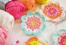 crochet + granny squares / newly found and recently learnt art of crochet - just like our gran's used to... / by Colleen Flemmer