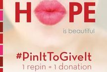 #PinItToGiveIt / Our 'Pin It To Give It' campaign is back! Help women in the fight against cancer look & feel beautiful by repinning. For every image repinned in this board using hashtag #PinItToGiveIt we'll donate one lipstick to charitable partner Look Good Feel Better, a public service program dedicated to improving the self-esteem & quality of life of women undergoing cancer treatment. Learn more: www.lookgoodfeelbetter.org  / by Elizabeth Arden