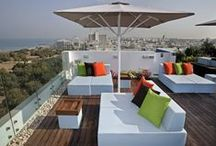 Roof Top Beauty from our Hotels / Many of our hotels have unique and stylish roof top lounges where you can relax and enjoy the beautiful views. / by Atlas Hotels Israel