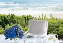 Au bord de la mer / Beautiful seaside houses, resorts and fashion / by Debby Tenquist