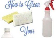 cleaning stuff idea / by Peggy Osborne