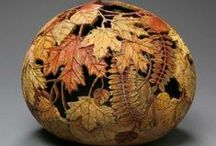 Art - Carvings/Gourds / Beautiful handcrafted art by cutting and painting.... / by Jacqueline Brown
