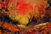 Artist Pol Ledent / Belgium born artist produces beautiful abstract creations... / by Jacqueline Brown