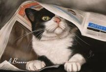 Amazing Cat Art / Friendly felines from the creative hands of those who love them.... / by Jacqueline Brown