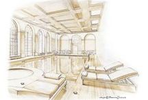 Architectural Illustrations / Exterior / interiors renderings. Buildingings, homes, landscape, storyboards and handrawn sketches / by Francesca Tesoriere - BiancodiZinco