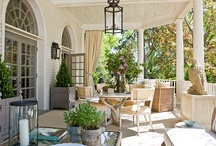 Exterior Living Areas  ~ Porches ~ Balconies ~ Pools /  Outside places to hang out / by ThreadBenders Design Studio