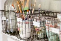 Craft Room & Office Fun / The trouble with organizing a thing is that pretty soon folks get to paying more attention to the organization  than to what they're organized for.  -  Laura Ingalls Wilder  / by Marilyn McDonald