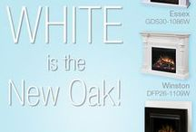 White is the New Oak / White is timeless, elegant and looks great with everything. From mantel to media console, and wall-mount to stove, Dimplex has a stylish solution for every need. / by Dimplex