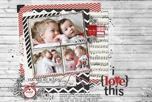 scrapbook pages; mine / by Kathleen Summers