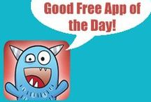 """GOOD FREE APP OF THE DAY / This is the """"follow now, check daily"""" board of our page. We share one or more free apps every day--these are apps we have tested and think merit mention on our site.  Don't miss these free iPhone/iPad apps! / by Smart Apps For Kids"""