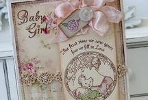 Baby Cards & Keepsake using Crafty Secrest Clear Art Stamps and Heartwarming Vintage Images / by Crafty Secrets