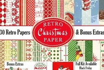 Vintage Christmas Downloads and CD Samples / Samples on this board have been created using either our Retro Christmas Printable Papers and/or Images and Ephemera - or our Vintage Christmas Printable Papers and/or Images and Ephemera Downloads.  Both Christmas Collections (Retro and Vintage) are also available in CD's  / by Crafty Secrets
