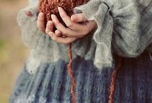 Knit Crochet Spin Fiber Textile / by Roseanna Bogley