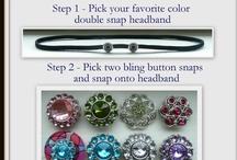 Interchangeable Snap Accessories / Interchangeable Button Snaps and Flower Snaps on Snap Headbands, Snap Hair Ties/Wristbands and MORE! / by Dainty Lions