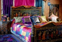 Bedroom dreams / I can't decide between a colourful cushion filled Boho bedroom or a sophisticated sleek sleeping space! / by Chris Cantrelle