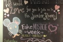 Fake Mustache Week / Fake mustache day is 2.24.2014. It's so much fun that we extended it for the whole week. #library #fakemustache  / by Junior Room