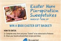 Easter Ham Pin-spiration Sweepstakes / Pork Be Inspired - National Pork Board - Official Rules; http://www.porkbeinspired.com/resources/images/232274.pdf / by Gina Nuzio