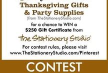 Winner!!! The Stationery Studio Thanksgiving Contest / Official Rules: http://www.thestationerystudio.com/pinterest/pinterest-thanksgiving-contest-2014  Ends: November 12, 2014 / by Gina Nuzio