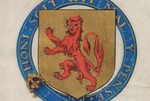 Heraldry / Contrary to popular belief, English Renaissance heralds did not play trumpets. Think of them as the earliest professional brand consultants, genealogists, and trademark protectors. They had the singular power to bestow enduring and easily recognizable symbols of status and honor upon those who had the proper lineage, reputation, and wealth. Some of these symbols can still be seen around us today. Learn more at folger.edu/heraldry / by Folger Shakespeare Library