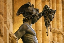 columns ~ caryatids ~ sculptures / Mighty columns, graceful sculptures and caryatids -- their hard-working architectural hybrid. / by Viqi French