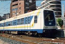 Garraioak. Trenbidea - Transportes. Ferrocarril / by Getxo iruditan - Imágenes de Getxo