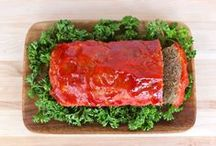 Meat, Meatloaf / Meatloaf has always been one of my top favorite comfort foods. I still can taste my Dad's meatloaf with added spinach. I love next day meatloaf sandwiches. There isn't a meatloaf I have met I didn't like......... / by Diane Willis