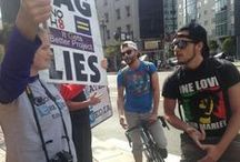 """This Is SF's Answer To The Westboro Baptist Church Hate Messages / SF came out in a counter protest against the Westboro Baptist Church's """"God Hates the Media Tour"""" to show love for the tech community today. / by TechCrunch"""