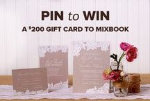Mixbook's Pin to Win Wedding Contest / Pin your favorite Mixbook photo book, card and calendar themes for the chance to win a $200 Mixbook gift card! Visit blog.mixbook.com for more details / by Mixbook