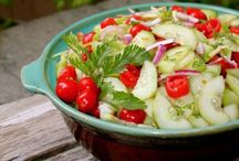 Summer Salads ~ Light, Easy, and Delicious / Light and easy salads for those hot Summer evenings where working in the kitchen is the last thing you want to do! / by Loralea Kirby