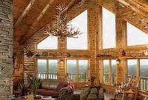 Log Home Living / Log homes / by Debbie Lipscomb 🌺