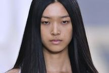 Pin-Straight Hair Spring 2014 / by The Fashion Spot