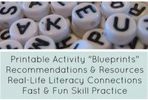 "Home Literacy Blueprint / ""Blueprints"" to help parents build a literacy-rich home. / by Erin Wing"