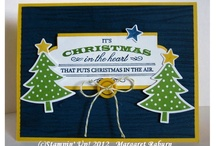 "Cards - Christmas 2012 SU / Special handmade cards for Christmas.  ***Cards made with the Christmas-themed Framelits can be found on the ""Framelits - Christmas, cards et al"" Board / by Margaret Raburn"