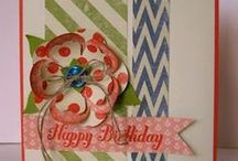Cards - Birthday sets / cards / Stampin' Up! birthday sets or cards with birthday greeting. / by Margaret Raburn