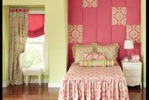 Creative Upholstered Wall for Girls / Rowley Company Makes an Upholstered Wall / Headboard for the Younger Set / by Rowley Company