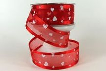Valentine Ribbons & Wreaths / Ribbons for valentine projects, decor, floral arrangements, wreaths and crafts available at Cottage Crafts Online  / by Cottage Crafts Online {Ribbons for DIY}