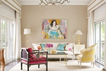 Interesting Interiors / Beautifully decorated living areas.  Chic design style / by Design Porter