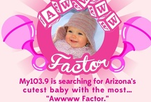 Awwww Factor 2012 / Thank you all for entering our Awwww Factor 2012 contest and re-pinning like there is no tomorrow.  Congrats to our winner with a remarkable 64,780 repins - Nevaeh! / by My1039 Phoenix