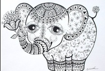 Coloring pages or pattern ideas / by Cindy Carter