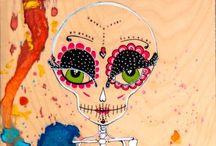 Day Of The Dead / Day of the dead Delos de muertos skull sugar skull / by Haley Knight