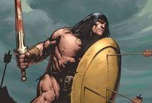"""Barbarian Geek! / What is best in life? """"To crush your enemies, see them driven before you, and to hear the lamentation of their women."""" Here is the proof from the Hyborian Age tales of Conan the Barbarian by Robert E. Howard and Frank Frazetta's defining artwork, to related works in the sword-and-sorcery genre, including Howard's own King Kull and Bran Mak Morn, later additions like Red Sonja, and inspired copycats like Fire and Ice and The Beastmaster. / by Bryan Superfreak Mangum"""