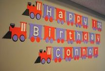 Train Birthday Party Ideas / Train birthday party ideas including train decorations, free train party printables, train party food, train favors and more!  / by Moms and Munchkins