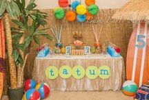 Beach Party Ideas / A collection of beach party ideas, beach party recipes, decorations, beach games, free printables and more!  / by Moms and Munchkins